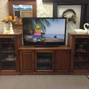 Oak TV Entertainment Center, tv cart, tv unit, tv console