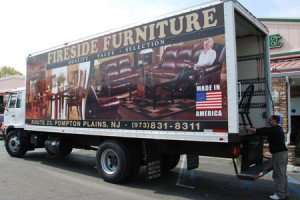 fireside Furniture Delivery truck
