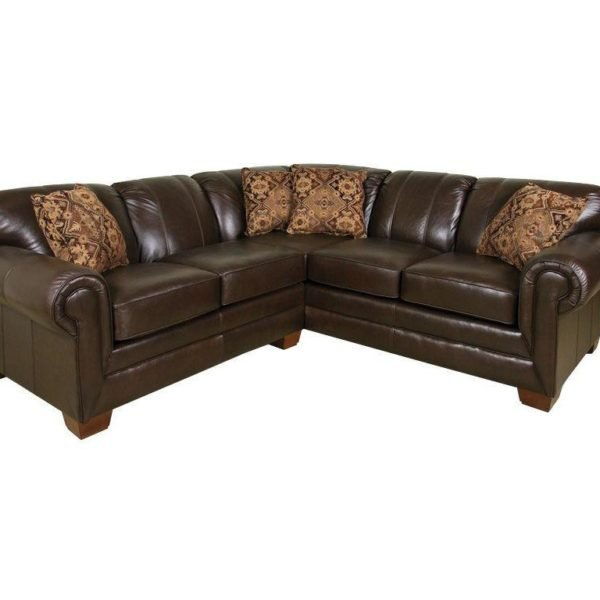 leather sectional, made in America