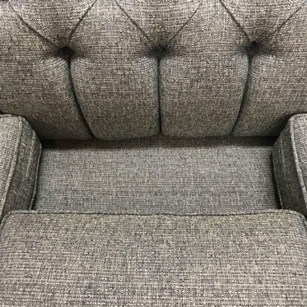 Classic Button Tufted Sofa with decking under the cushions is made of the same material as your sofa.