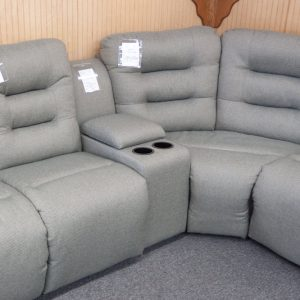 Comfort-Plus Reclining Sectional center console