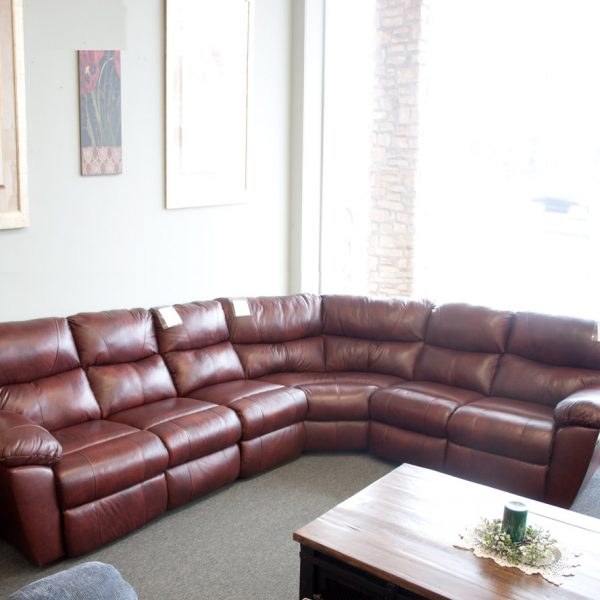 Comfort Plus Top Grain Leather Sectional