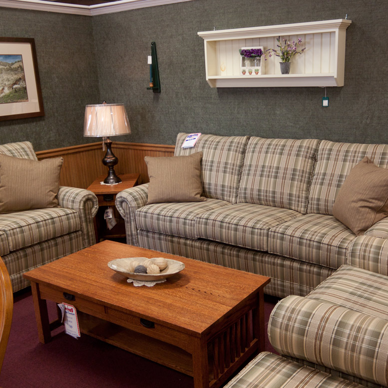 Country Living Room Set With Fireside, Country Living Room Furniture