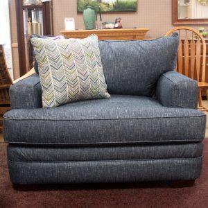 Deep Comfortable Big Blue Living Room Set chair