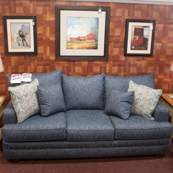 Deep Comfortable Big Blue Living Room Set sofa