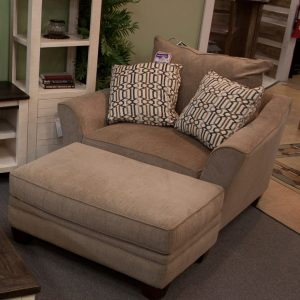 Oversized Living Room Set chair and ottoman shown