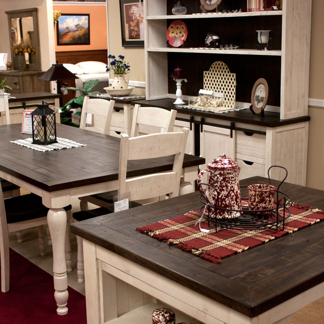 Pine Dining Set With Fireside Furniture In Pompton Plains