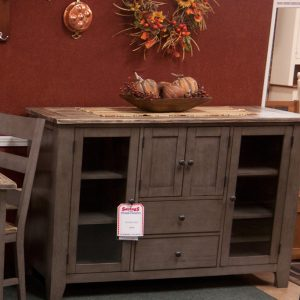 Pine Dining Table's hutch