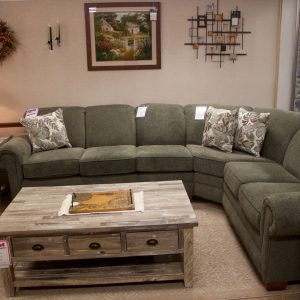 Sectional with curved corner wedge photo