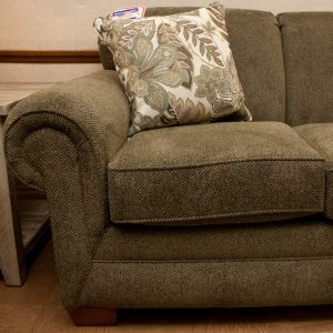 Sectional with curved corner wedge detail photo