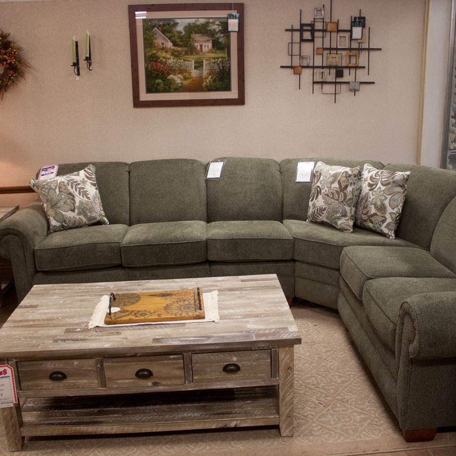 Sectional With Curved Corner Wedge
