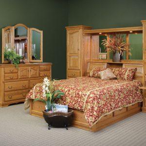 Solid Oak Pier Wall bedroom set