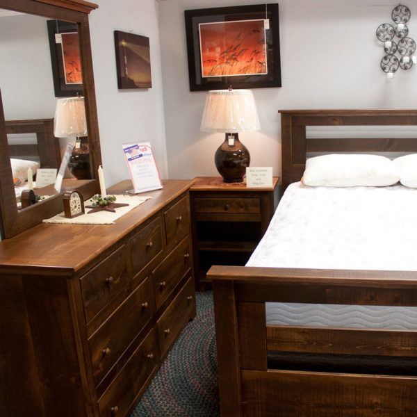 Solid-Pine Rustic-Bedroom-Set