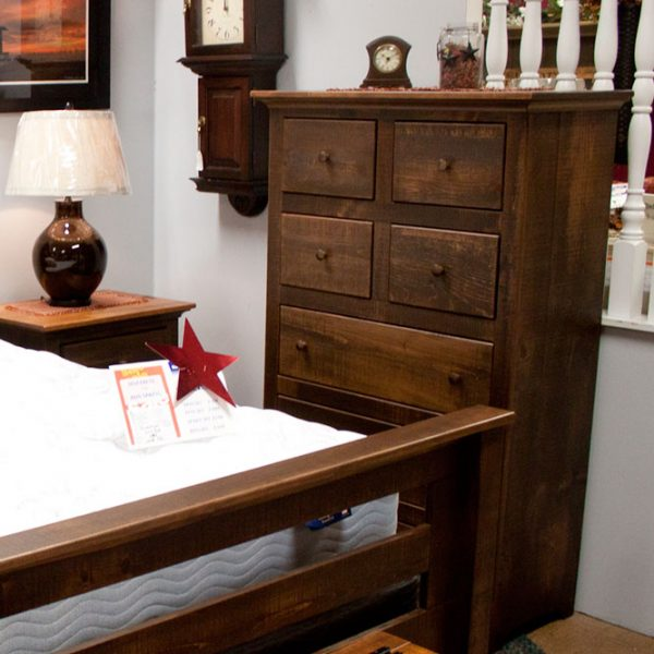 Solid Pine honorwood Rustic Bedroom Set bureau photo