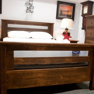 Solid Pine honorwood Rustic Bedroom Set footboard photo