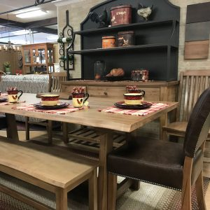 Solid maple dining set constructed of the finest solid maple and made in America. The live edge table accentuates the beauty of the solid wood finished with a Valspar catalyzed varnish for superior spill and scratch protection with chairs with comfortable saddle shaped seats.