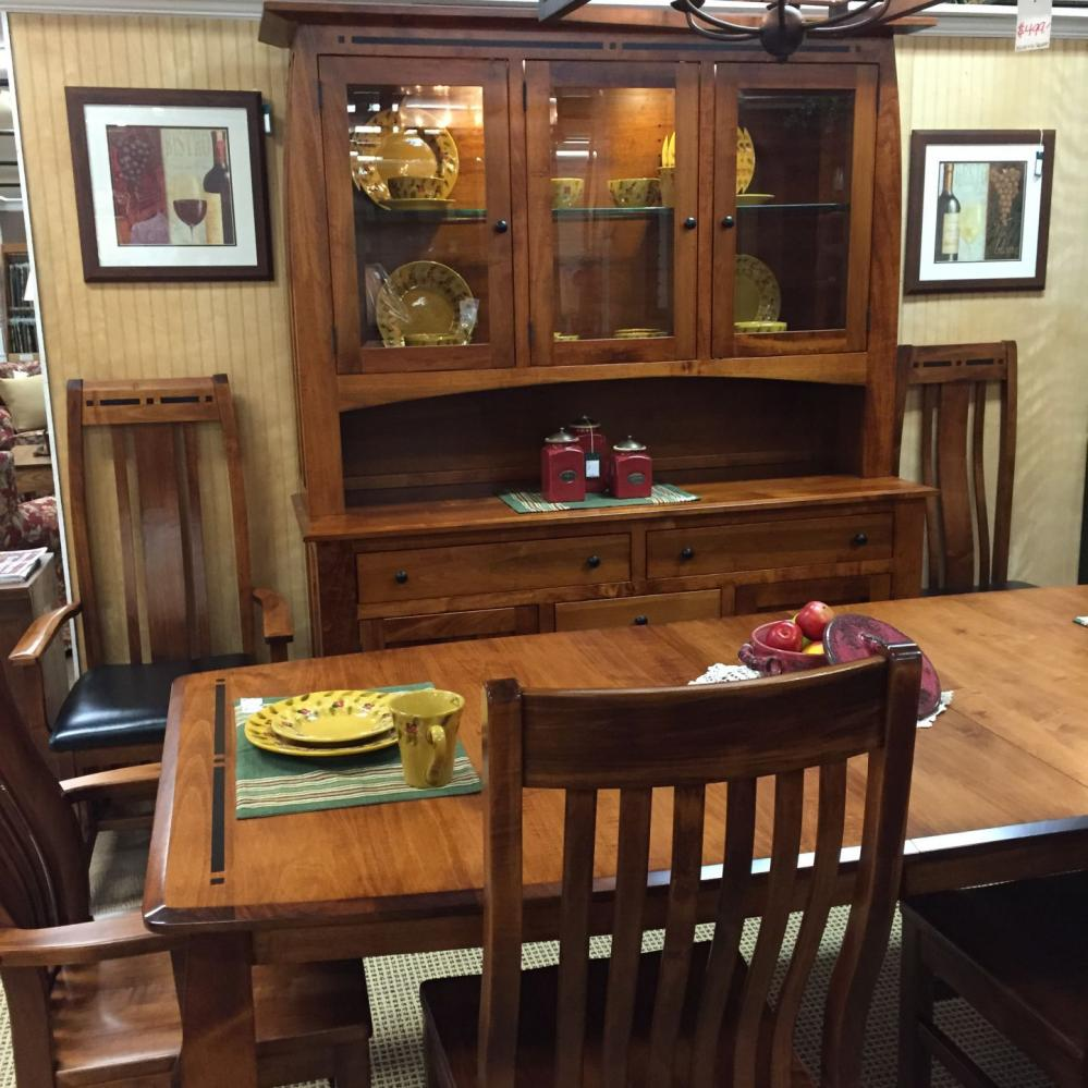 Amish Solid Maple Dining Room With Ebony Inlays With By