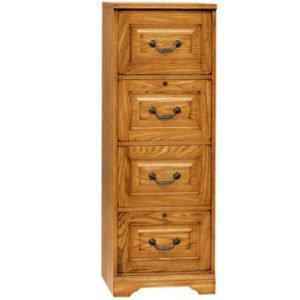 antique-looking-oak-4-drawer-vertical-file-cabinet