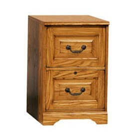 antique-looking-oak-4-drawer-vertical-file-cabinet