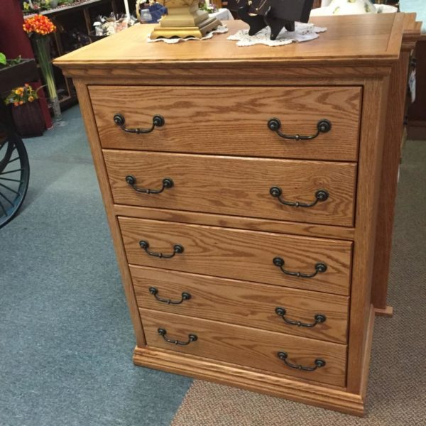 Oak chest, full extension drawers, made in america