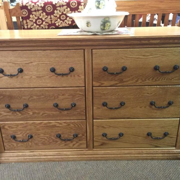 oak dresser, made in America, full extension drawers