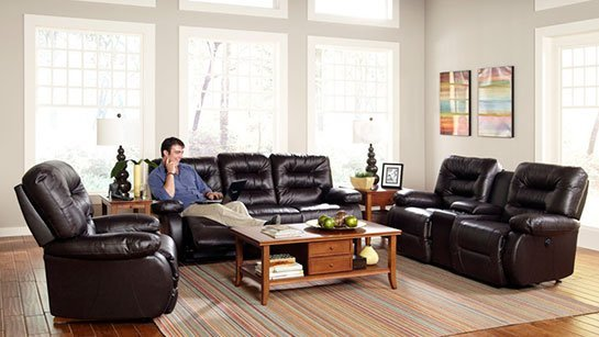 Recliners and Loveseats, Leather Furniture