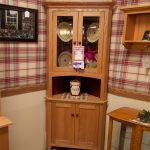 country corner hutch with open well