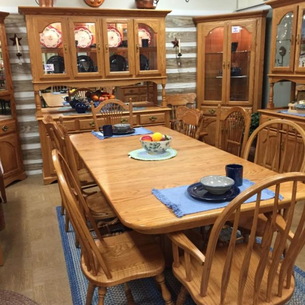 solid oak country dining