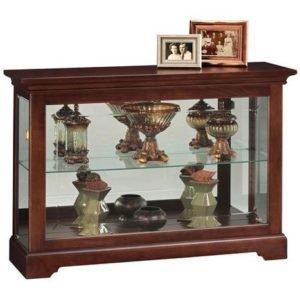 console curio cabinet in cherry.