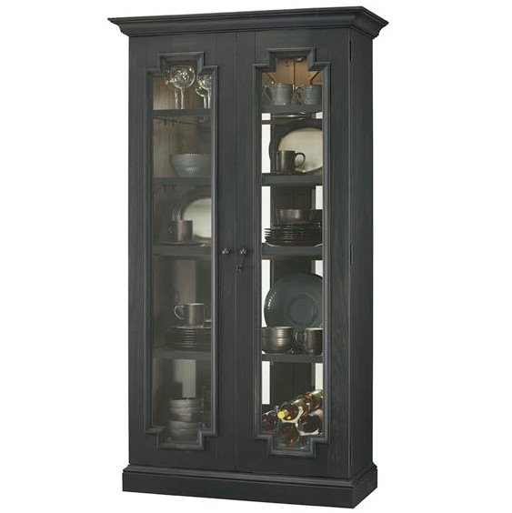 Curio With Aged Finish Fireside Furniture