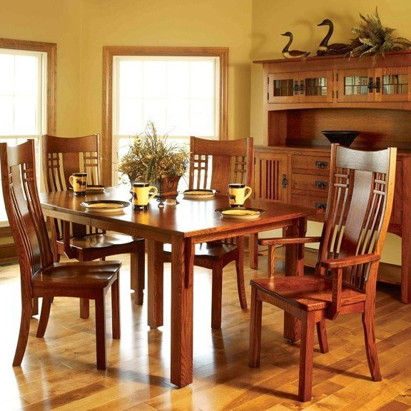 Mission Dining Room Set, made in America, solid oak