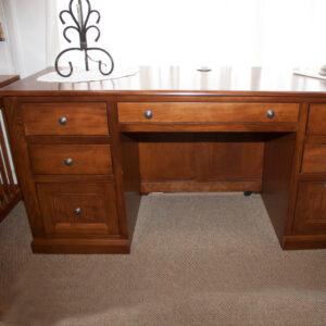 Oak Double Pedestal Desk