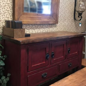 Farmhouse Country Solid Maple Buffet