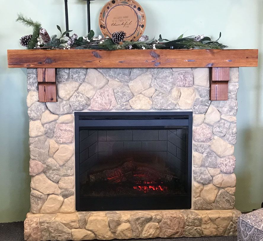 Fieldstone Fireplace Product : Fieldstone electric fireplace will impart the charm of a