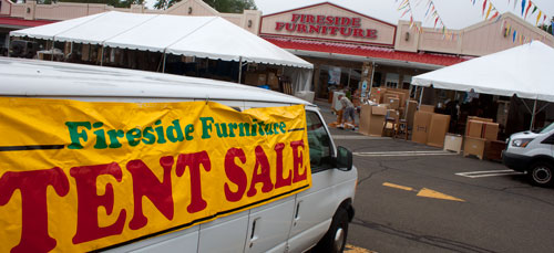 We're getting ready for our HUGE Furniture Sale at Fireside Furniture