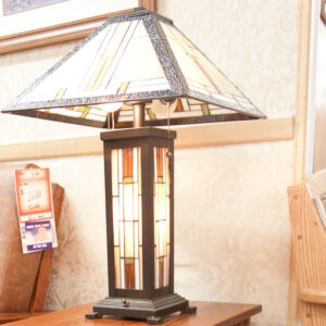 Matching lamp for classic mission styleliving room collection made in USA by Amish craftsmen.