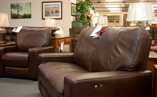 25% off _leather-loveseat-and-chair combination