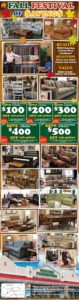 Fireside_FALL-festival-of-savings-$100 off $1100, $200 off $2200 purchase up to $500 off $5500 purchase thru December 23rd.
