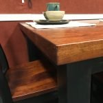 hand-planed-solid-top-table-side to show care of solid wood table
