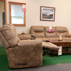 Leather Comfort transitional reclining living room set