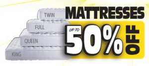 mattresses up to 50% off in twin full queen and king