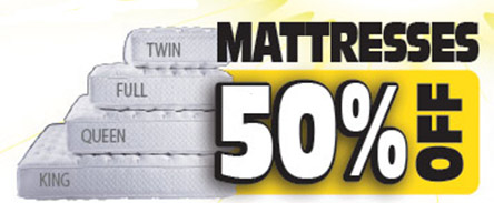 Mattresses 50% off