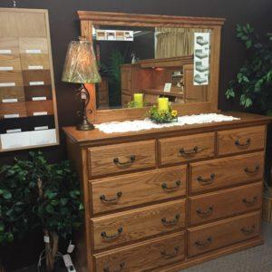 oak dresser, full extension drawers, multiple finishes, made in america
