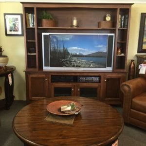 maple entertainment center, TV cart