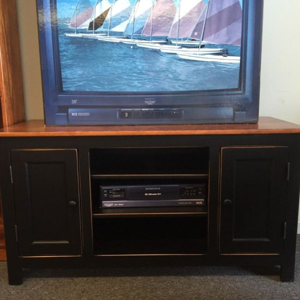 pine TV cart, made in America, tv cart