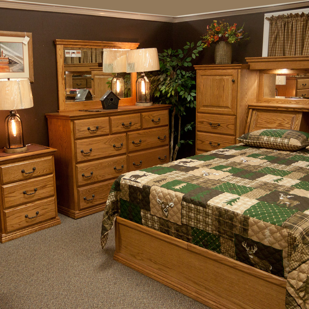 Pier Wall Bedroom Set With Fireside Furniture In Pompton
