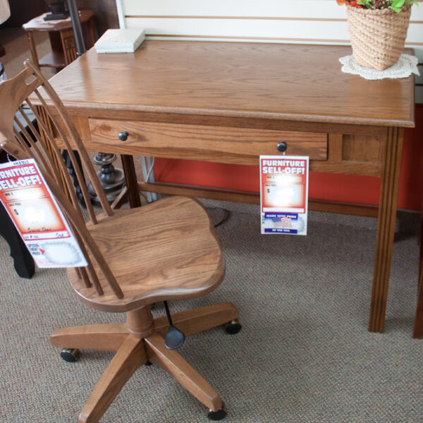 oak writing desk with chair