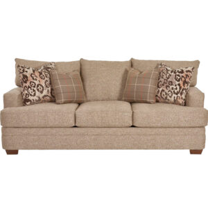 overstuffed sofa for casual comfort