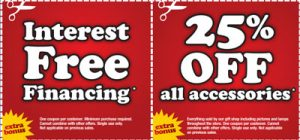 Interest Free Financing* 25% OFF all accessories*