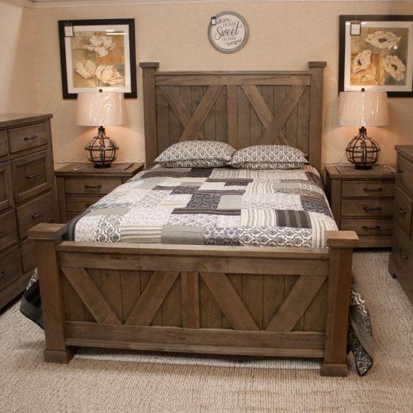 Solid Pine Rustic Bedroom Set